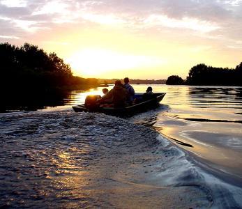 Boat in National Park Gabon